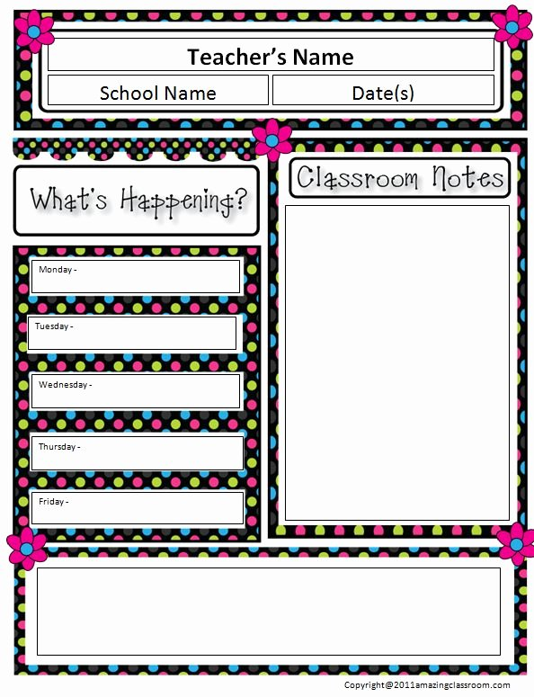 Monthly Newsletter Template for Teachers Fresh Free Classroom Newsletter Templates Reeviewer