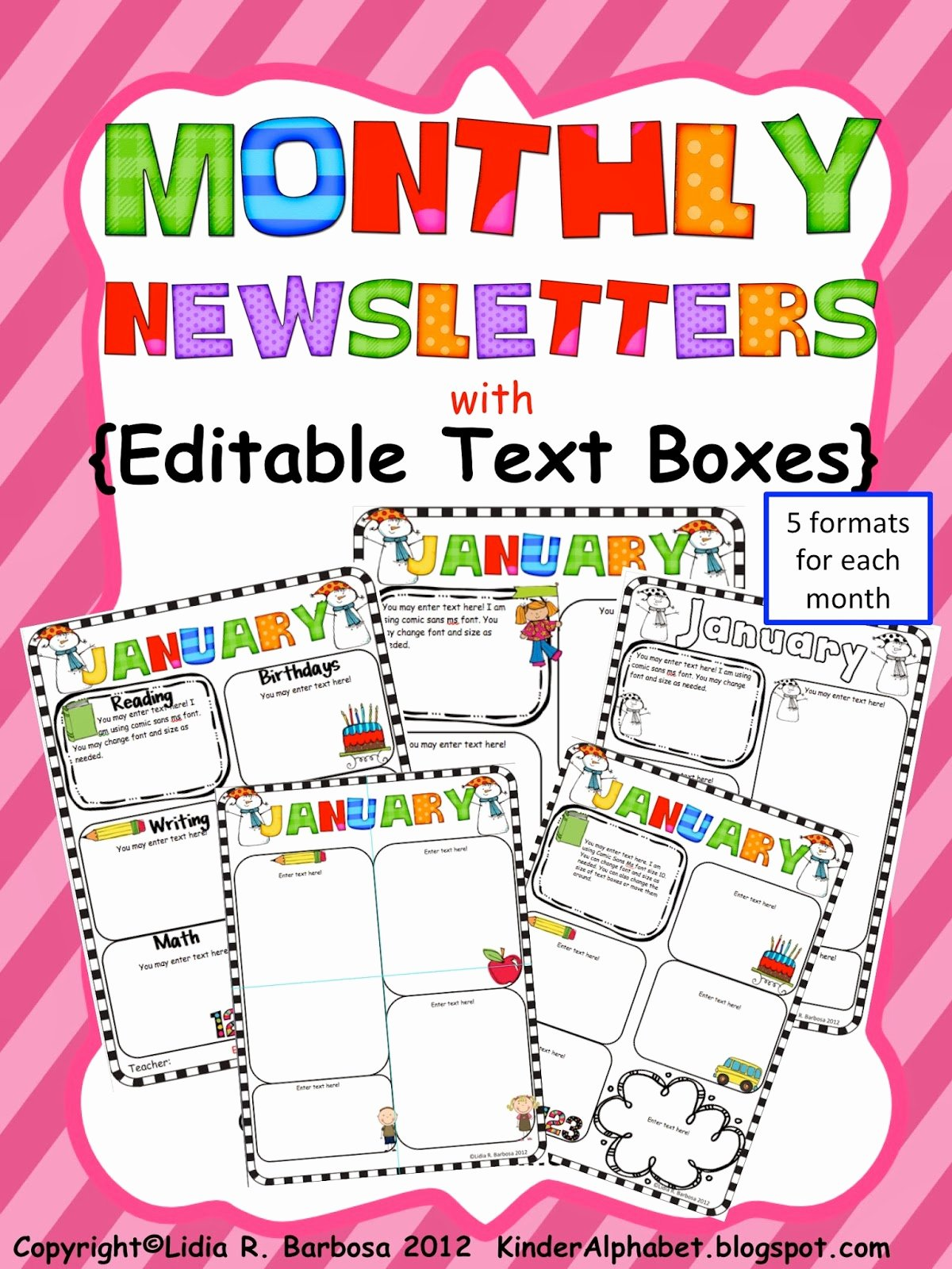 Monthly Newsletter Template for Teachers Fresh Kinder Alphabet — Teacher Resources In English and Spanish