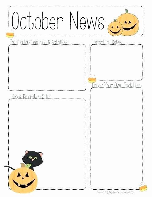 Monthly Newsletter Template for Teachers Inspirational Free Printable Monthly Newsletter Templates for Teachers