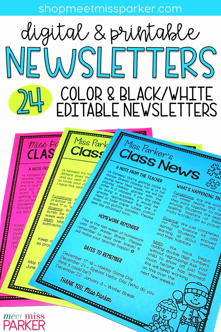 Monthly Newsletter Template for Teachers Lovely Best 25 Preschool Newsletter Templates Ideas Only On