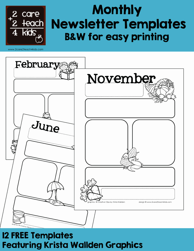 Monthly Newsletter Template for Teachers Luxury Basic Newsletters Free Printable Templates