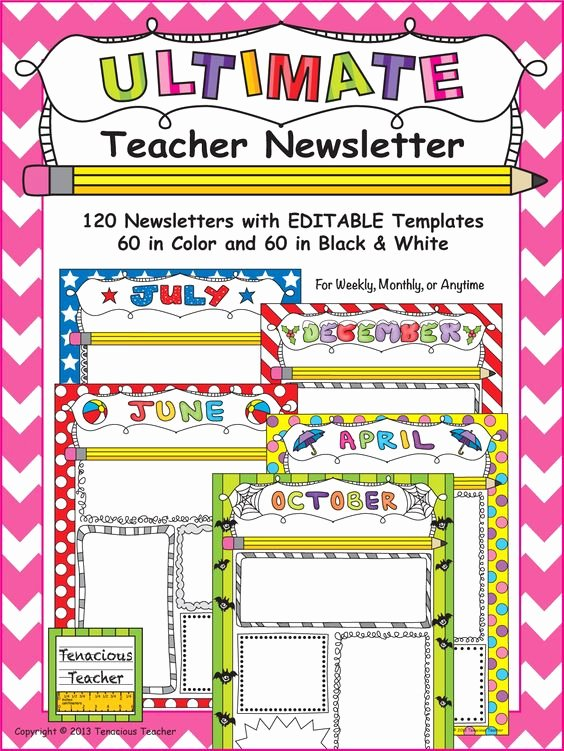 Monthly Newsletter Template for Teachers New Teacher Newsletter the Font and In Color On Pinterest