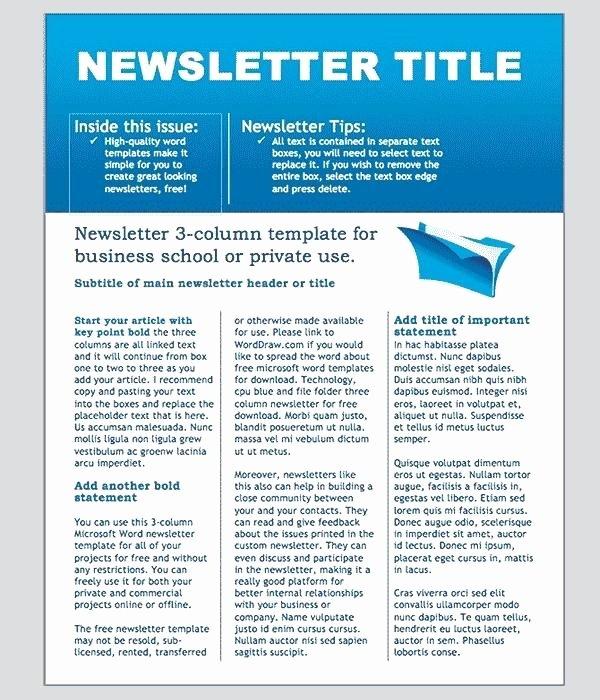 Monthly Newsletter Template for Teachers Unique Great Monthly Newsletter Templates Free 8 Best