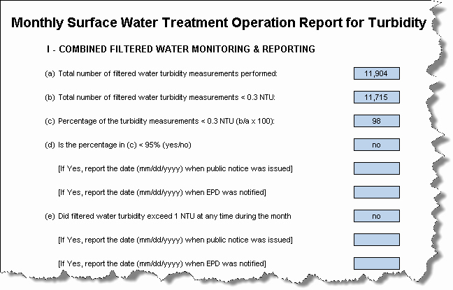 Monthly Operations Report Template Beautiful Georgia Drinking Water Report Templates [q ]
