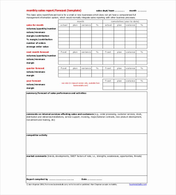 Monthly Operations Report Template Elegant 19 Monthly Report Template Free Sample Example format