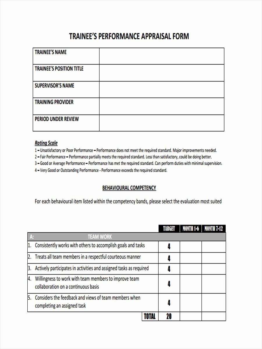 Monthly Performance Review Template Inspirational 6 Monthly Review form Sample Free Sample Example