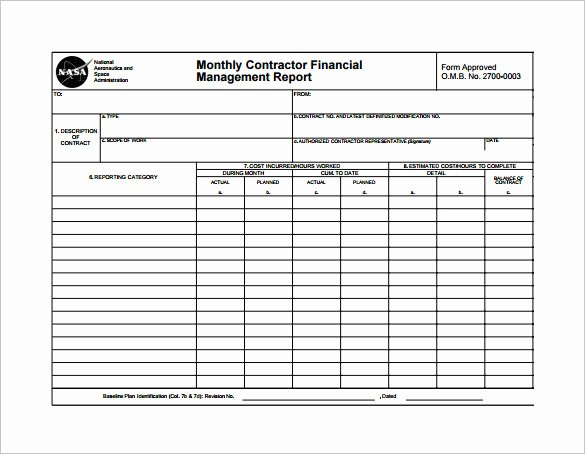 Monthly Report Template for Manager Best Of 20 Sample Monthly Management Report Templates Word