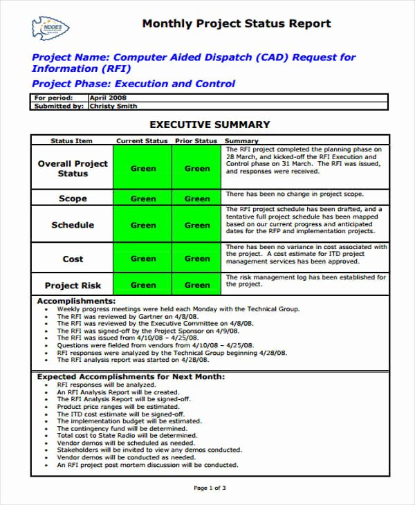 Monthly Report Template for Manager Best Of 42 Monthly Report format Templates