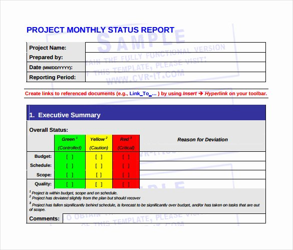 Monthly Report Template for Manager Inspirational 20 Sample Monthly Management Report Templates Word