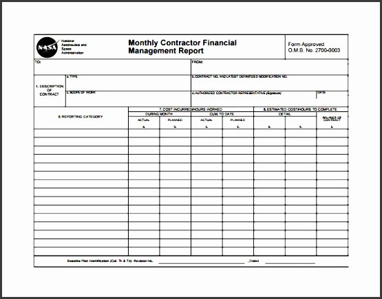 Monthly Report Template for Manager Luxury 8 Monthly Report format Template Editable