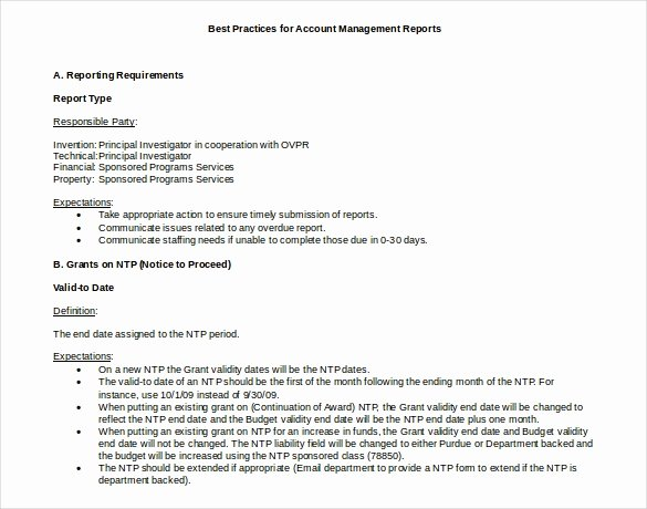Monthly Report Template for Manager New 48 Monthly Management Report Templates Pdf Doc Excel