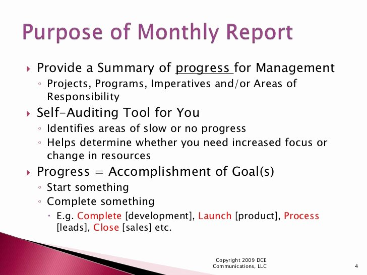 Monthly Report Template for Manager New How to Create Meaningful Monthly Reports