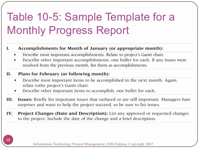 Monthly Report Template for Manager Unique Information Technology Monthly Report Template Templates