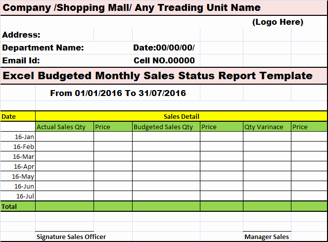 Monthly Sales Report Template Awesome Collection Of Free Report formats and Examples