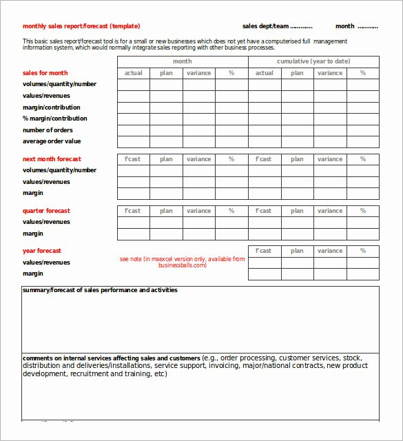 Monthly Sales Report Template Excel Inspirational 30 Monthly Sales Report Templates Pdf Doc Apple Pages