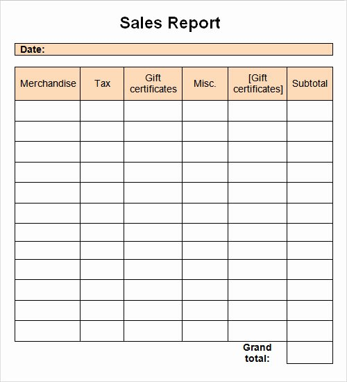 Monthly Sales Report Template Excel Lovely Monthly Sales Report Spreadsheet Vatansun