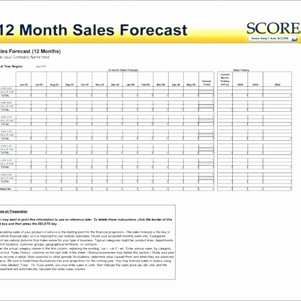 Monthly Sales Report Template Excel Luxury 12 Month Sales forecast Template – Kazakiafo