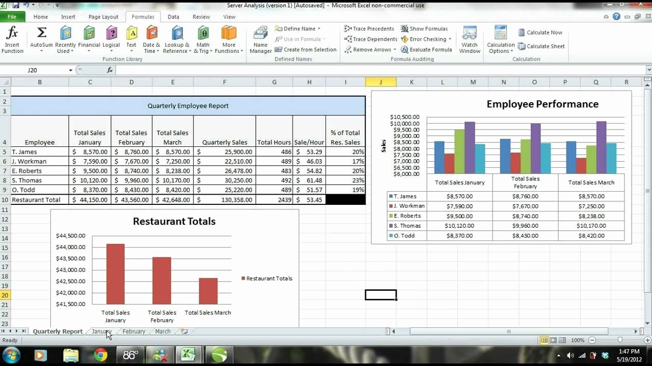 Monthly Sales Report Template Excel New Ms Excel 2010 Tutorial Employee Sales Performance Report