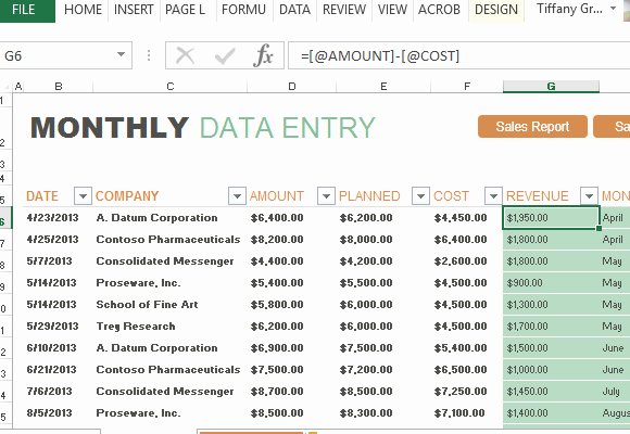 Monthly Sales Report Template Excel Unique Monthly Sales Report and forecast Template for Excel