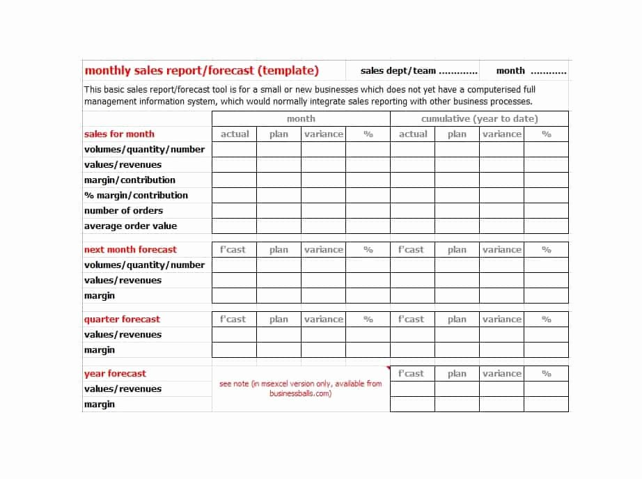 Monthly Sales Report Template Lovely 45 Sales Report Templates [daily Weekly Monthly Salesman