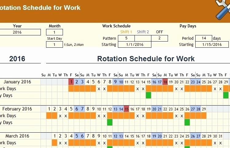 Monthly Shift Schedule Template Beautiful Monthly Staff Roster Template Free Employee and Shift