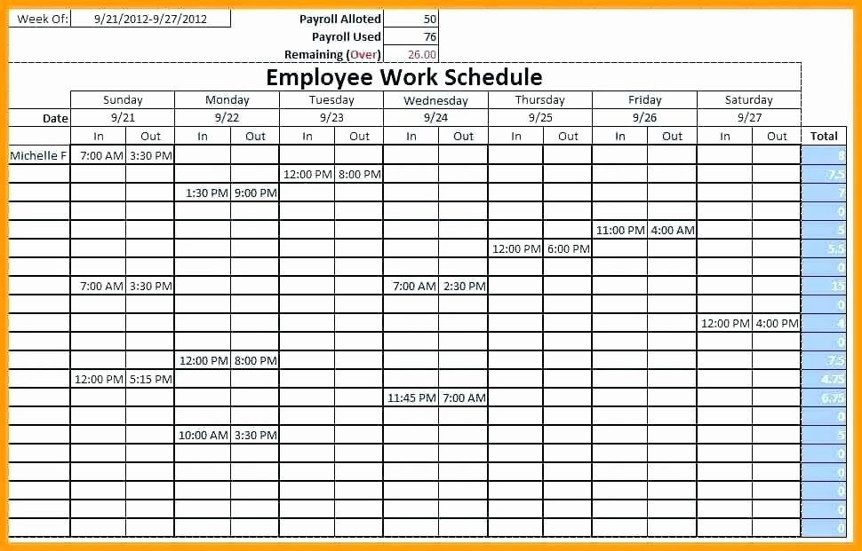 Monthly Shift Schedule Template Best Of Free Excel Schedule Template Monthly Employee Shift Staff