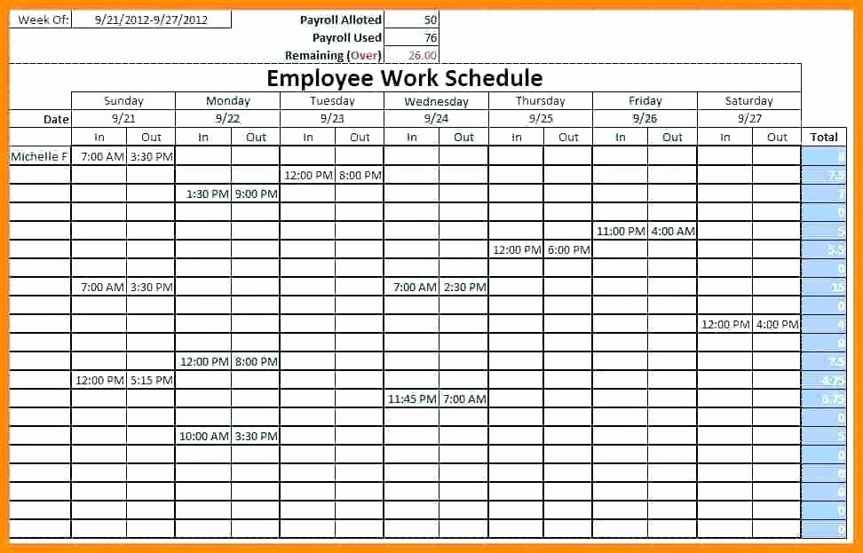 Monthly Shift Schedule Template Elegant Excel Employee Work Schedule Template – Whatafanub