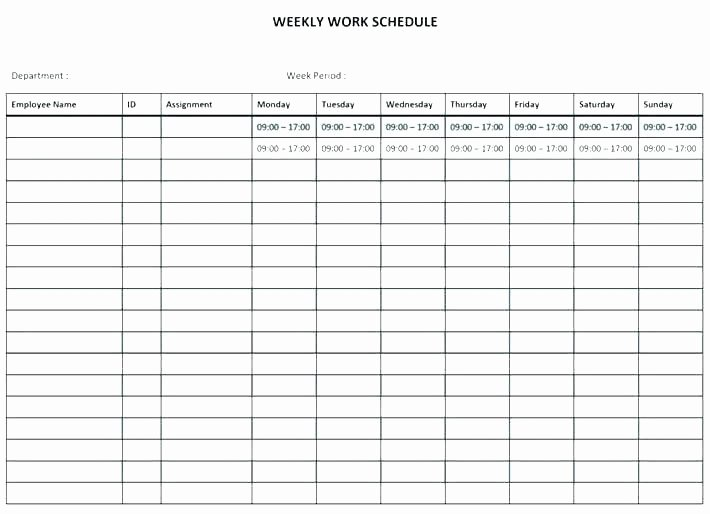 Monthly Shift Schedule Template Fresh Shift Rota Template Staff Rota Excel Template Club Night