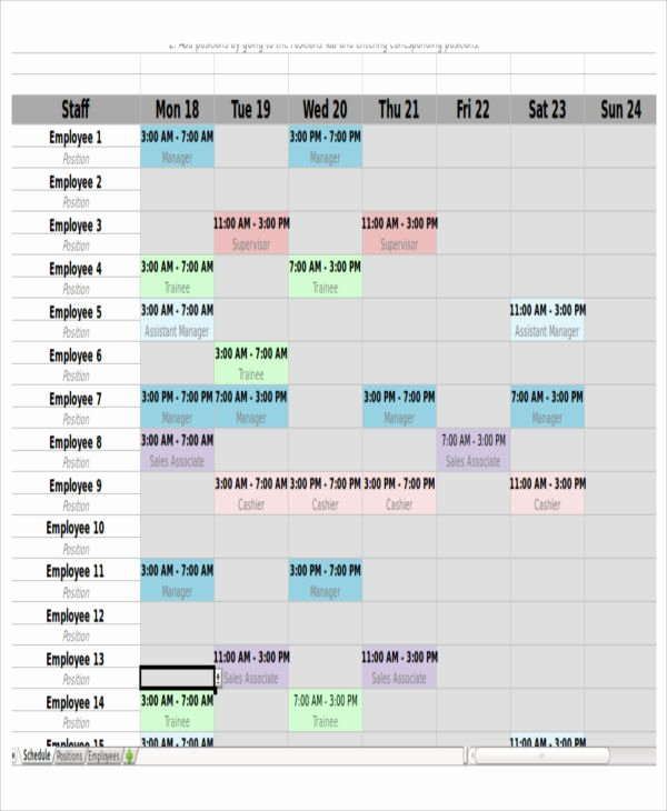 Monthly Shift Schedule Template Inspirational 4 Monthly Shift Schedule Templates Free Word Pdf format