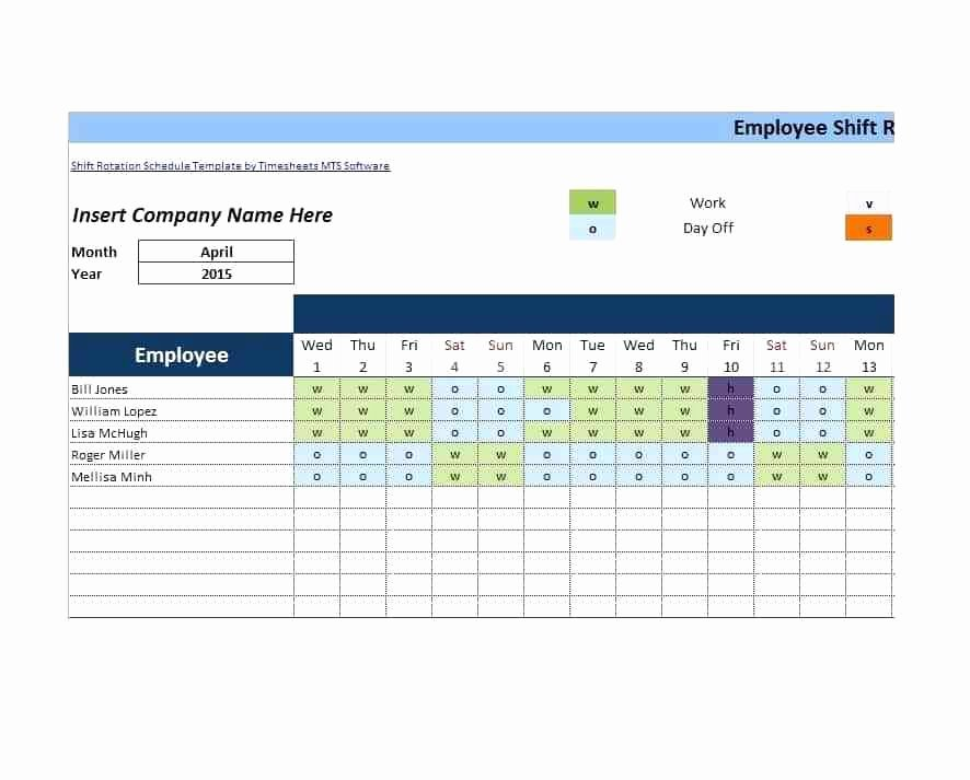 Monthly Shift Schedule Template Inspirational Free Downloadable Work Schedule Template Monthly Rotation