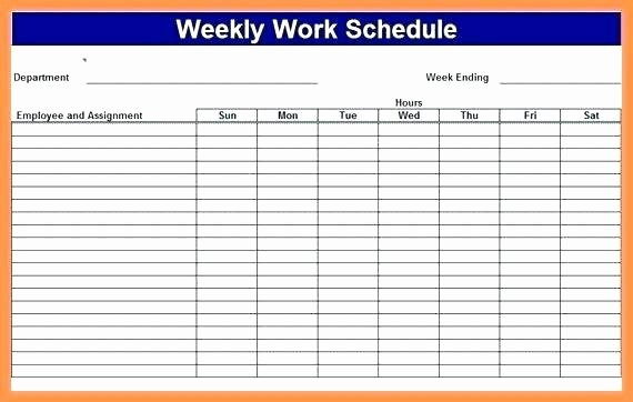 weekly work schedule template excel employee multiple monthly tem