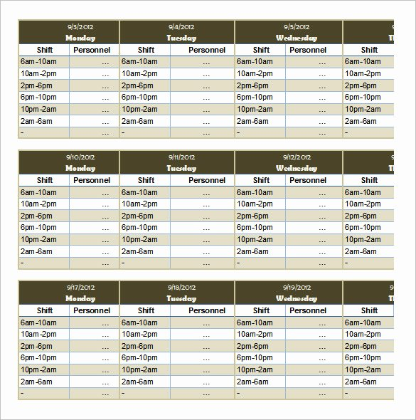 Monthly Staff Schedule Template Best Of 55 Schedule Templates & Samples Word Excel Pdf
