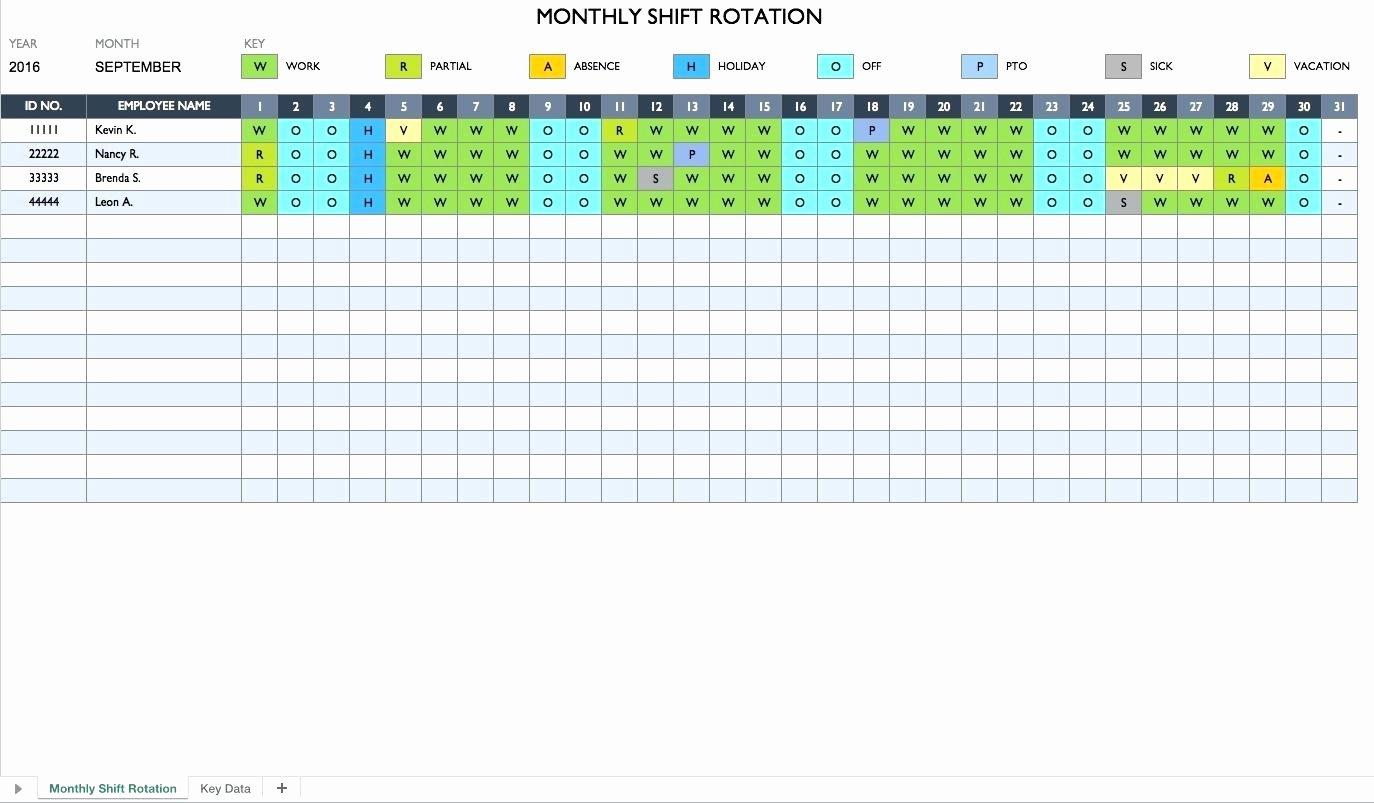 Monthly Staff Schedule Template Elegant 5 4 9 Work Schedule Template