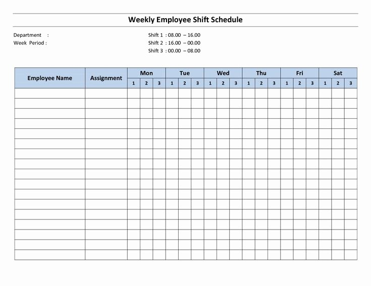 Monthly Staff Schedule Template Lovely Free Printable Employee Work Schedules