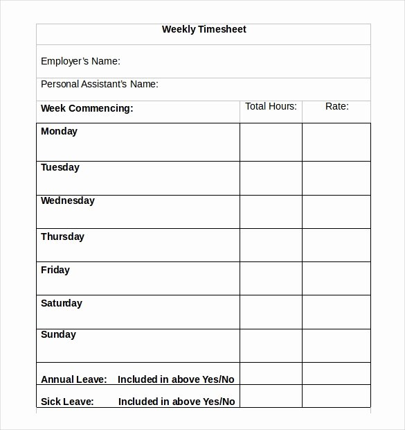 Monthly Time Card Template Awesome 22 Weekly Timesheet Templates – Free Sample Example
