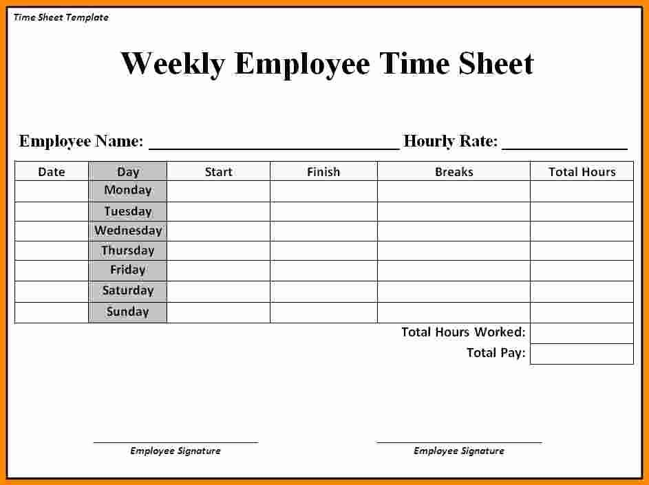 Monthly Time Card Template Beautiful 12 Free Printable Weekly Timesheet Template