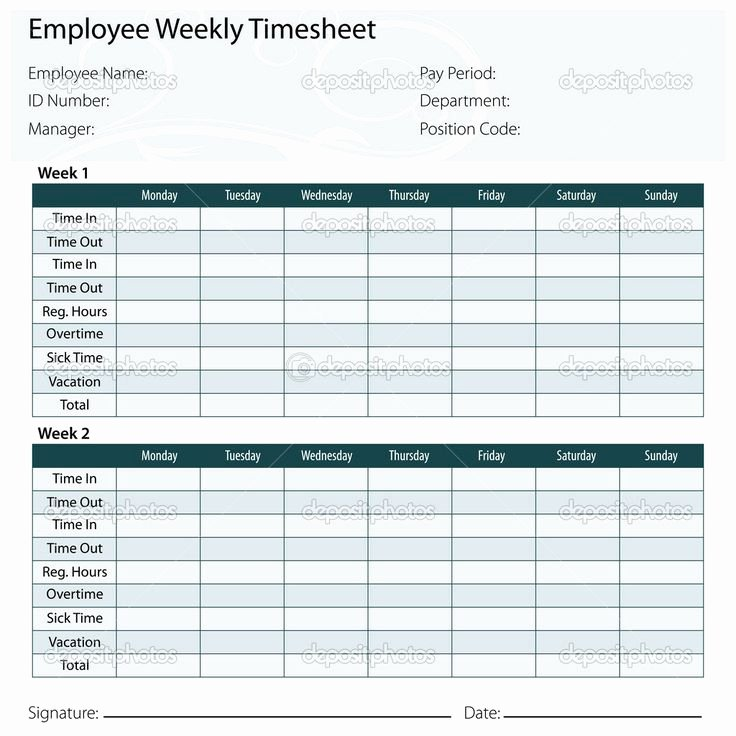 Monthly Time Card Template Unique Free Printable Timesheet Templates