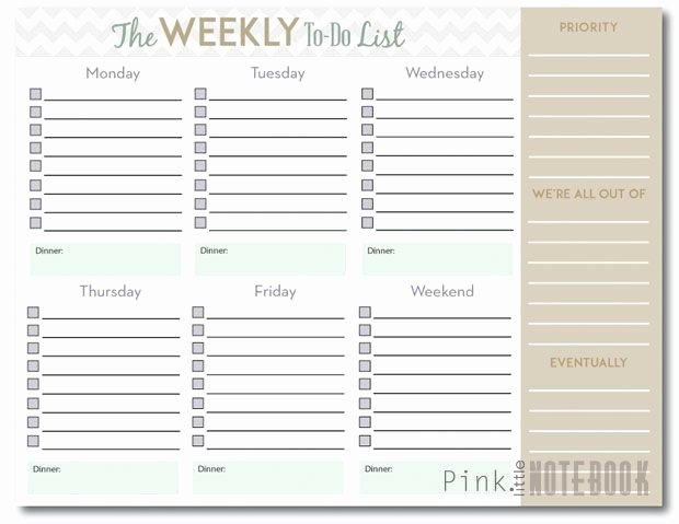 Monthly to Do List Template Beautiful the Ultimate Weekly to Do List Free Printable
