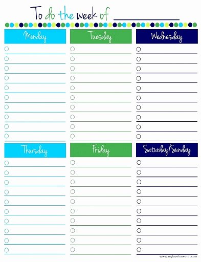 Monthly to Do List Template Best Of Weekly Work to Do List Template