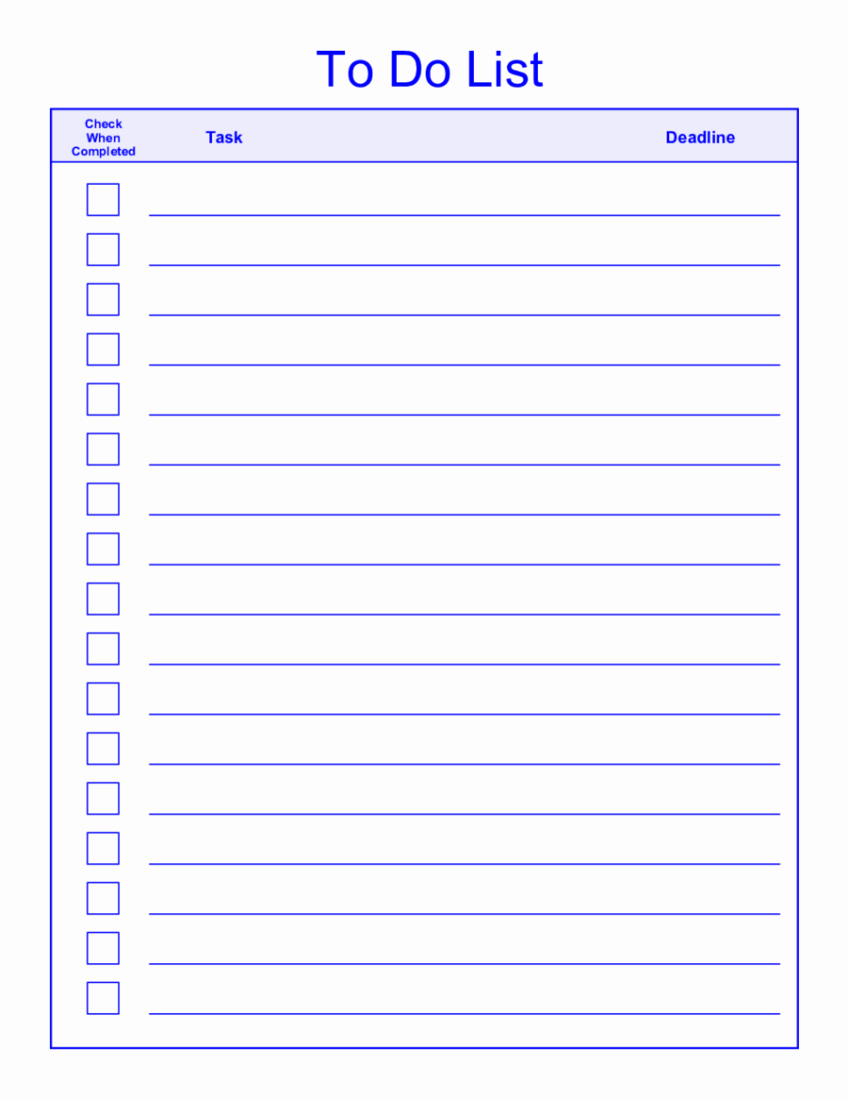 Monthly to Do List Template Elegant the Gallery for Weekly to Do List Template