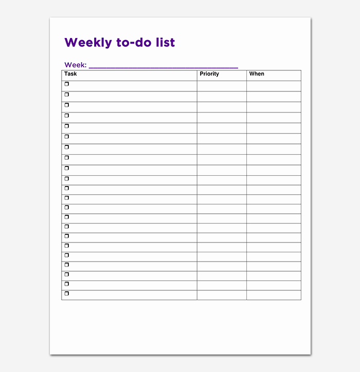 Monthly to Do List Template Elegant Things to Do List Template 20 Printable Checklists