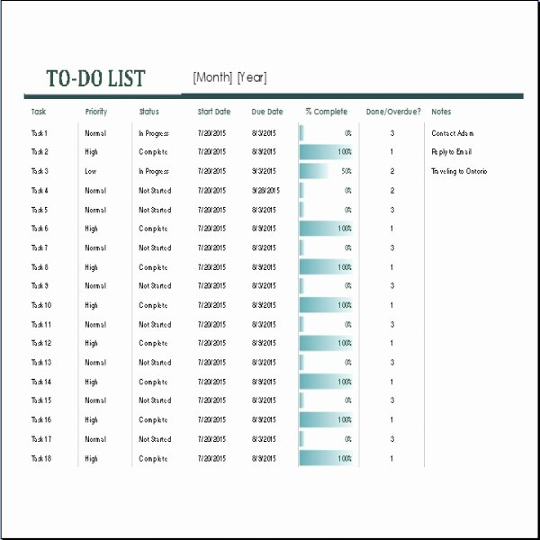 Monthly to Do List Template Fresh Monthly Task List Template