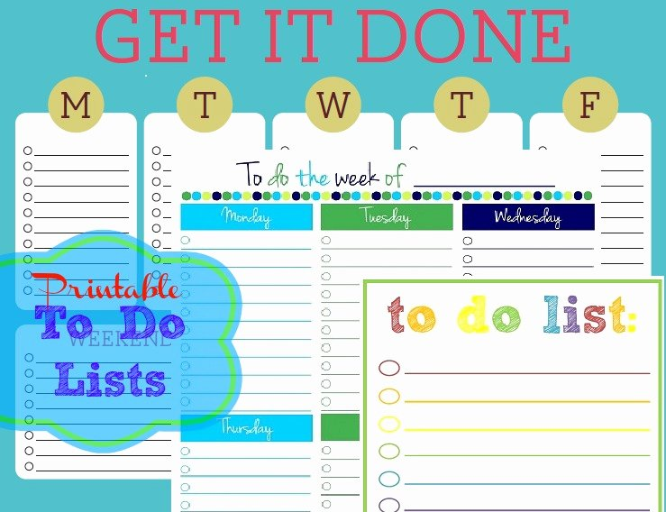 Monthly to Do List Template Inspirational Free Printable to Do Lists – Cute & Colorful Templates
