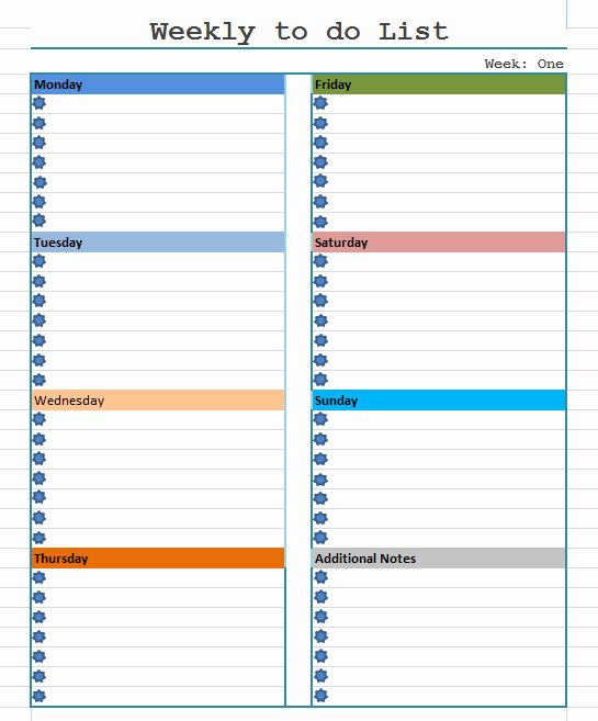 Monthly to Do List Template Inspirational the Gallery for Weekly to Do List Template