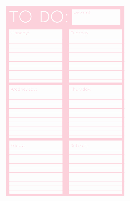 Monthly to Do List Template Lovely 40 Printable to Do List Templates