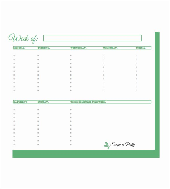 Monthly to Do List Template New Weekly to Do List Template 6 Free Word Excel Pdf