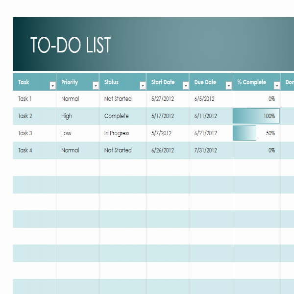 Monthly to Do List Template Unique Monthly Task List Template