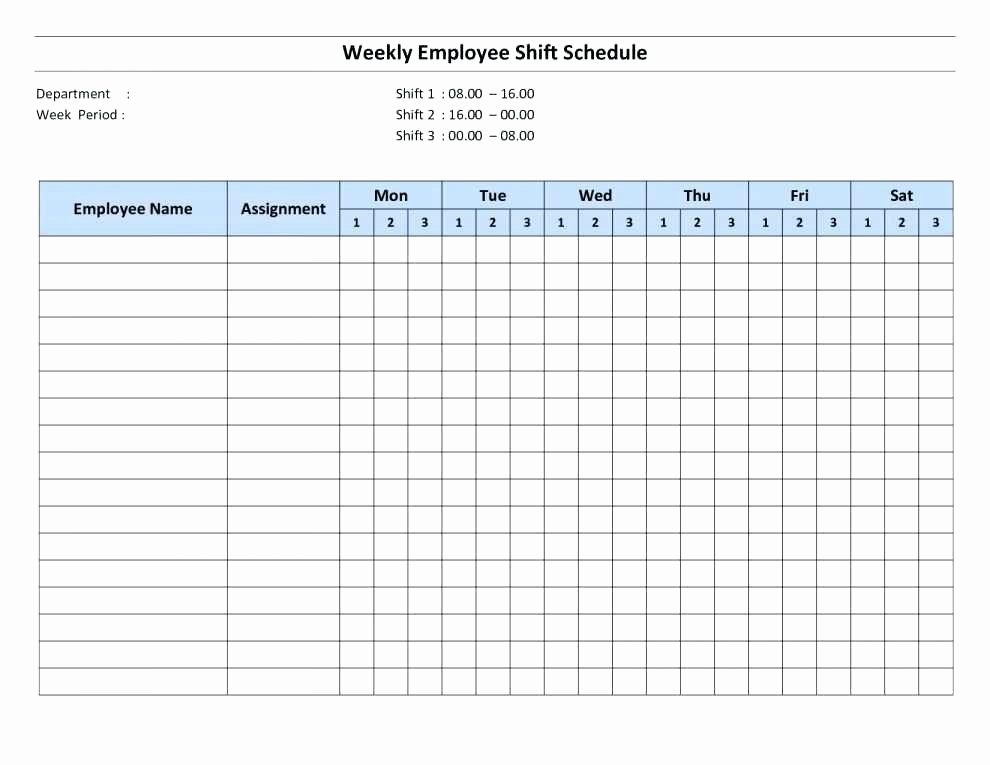 Monthly Work Schedule Template Excel Unique Excel Employee Schedule Monthly Staff Template Work