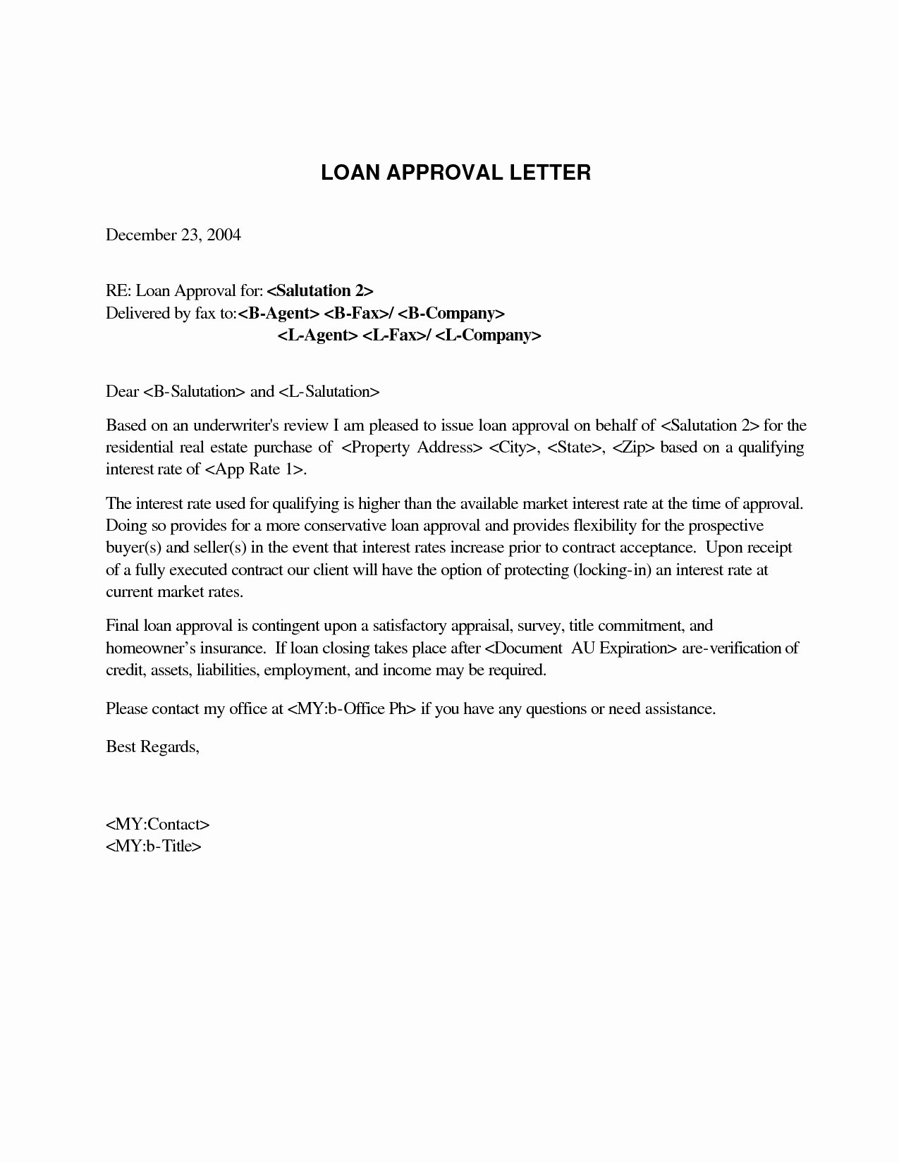 Mortgage Pre Approval Letter Template Awesome Mortgage Pre Qualification Letter Template Collection