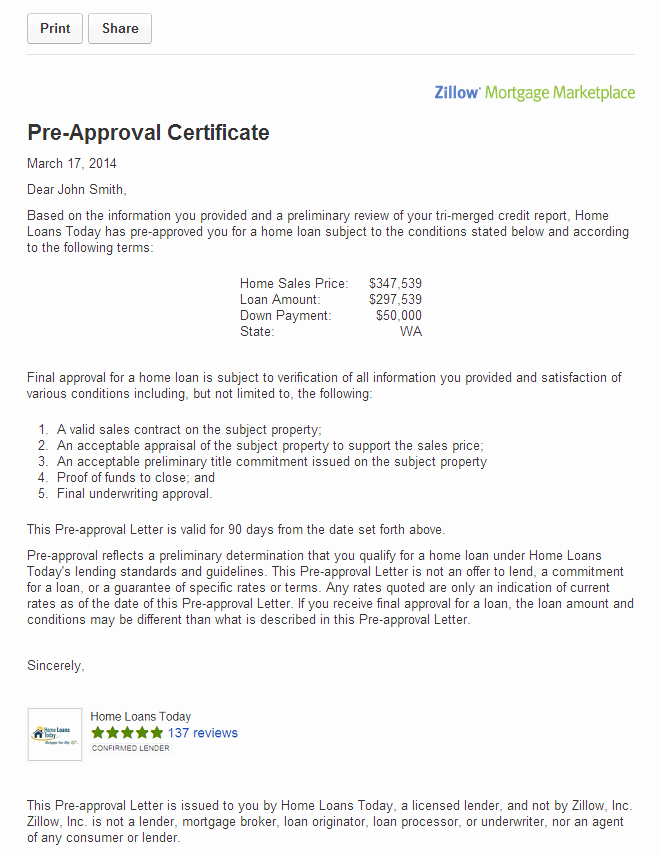 Mortgage Pre Approval Letter Template Fresh Get Pre Approved for A Mortgage On Zillow Zillow